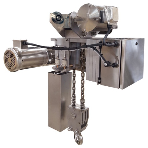Stainless steel chain hoist built for cleanroom enviornments