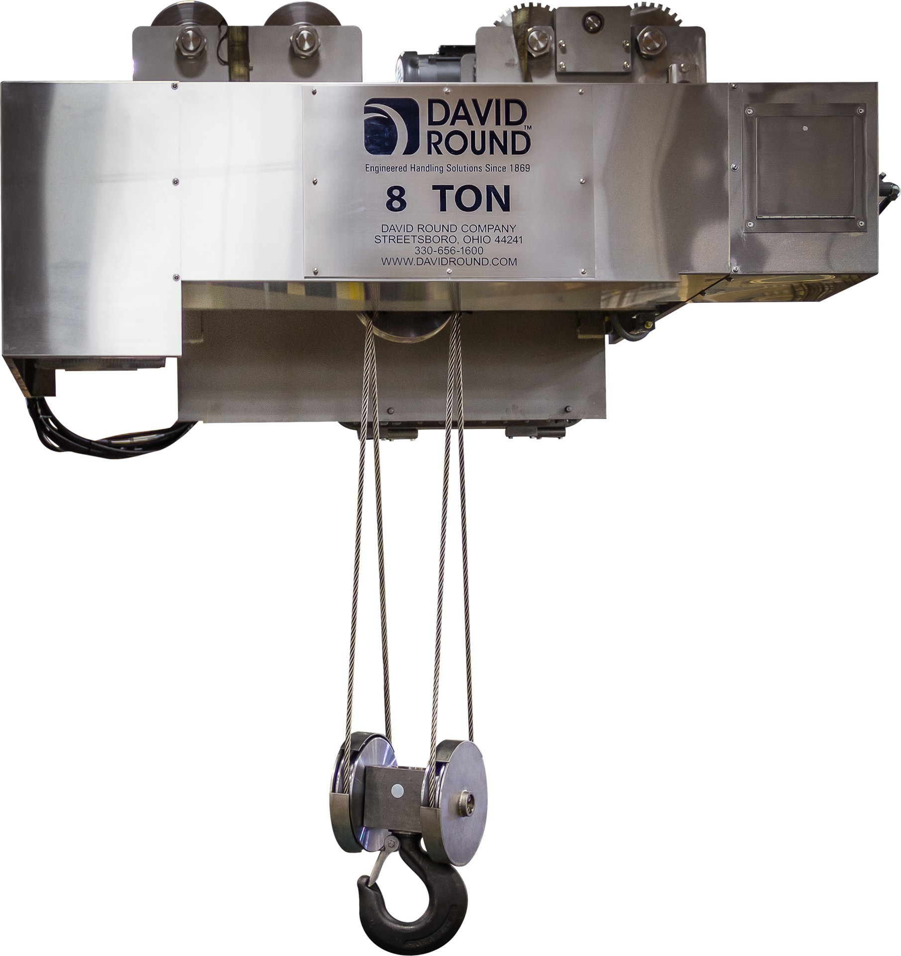 Custom Corrosion Resistant Wire Rope Hoist - David Round
