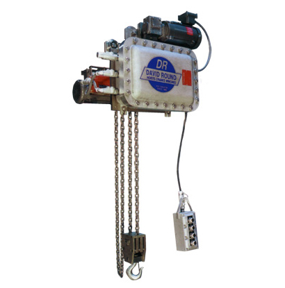 Explosion proof chain hoist for extreme environments