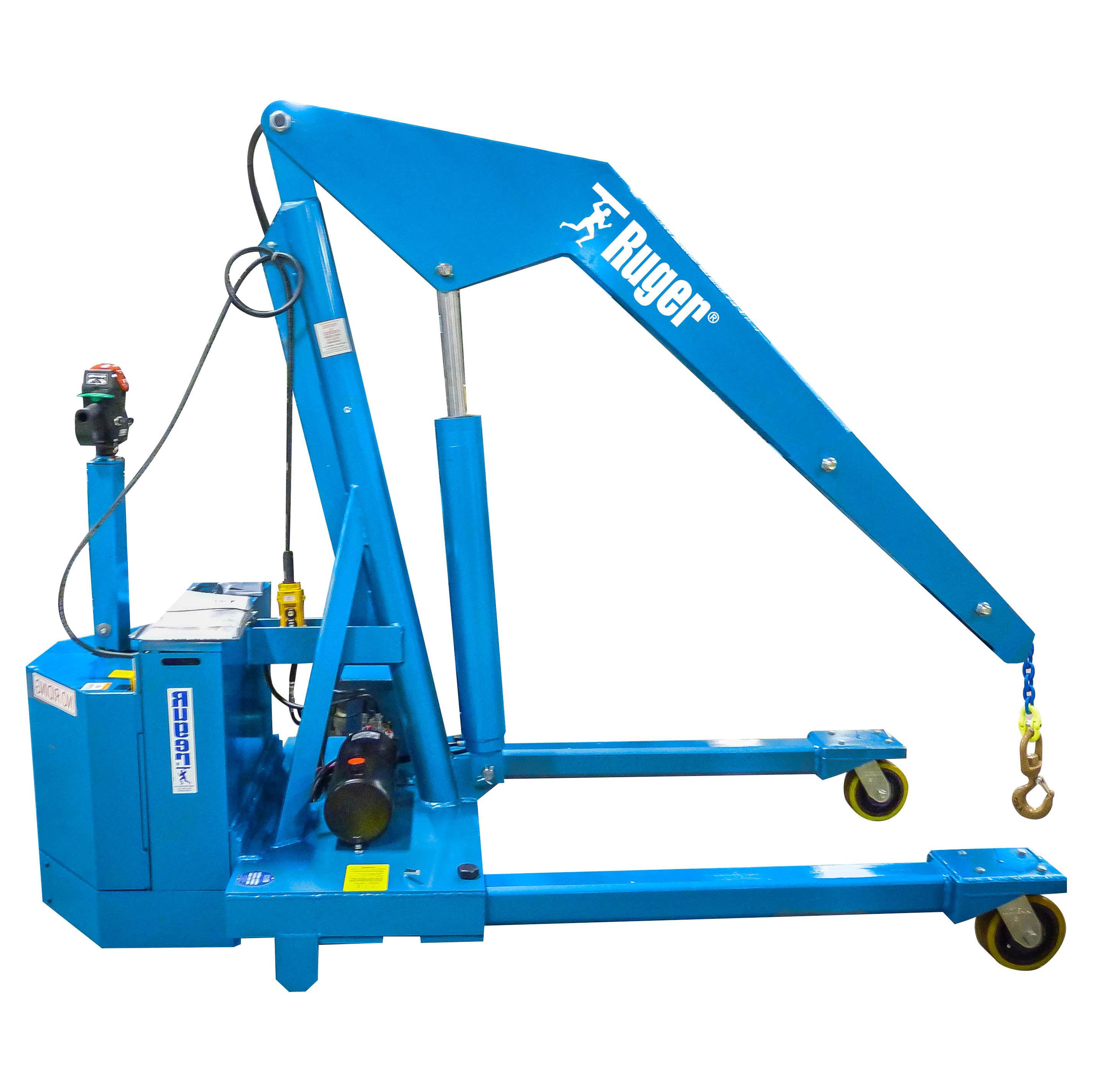 Floor Crane – Powered Adjustable Leg