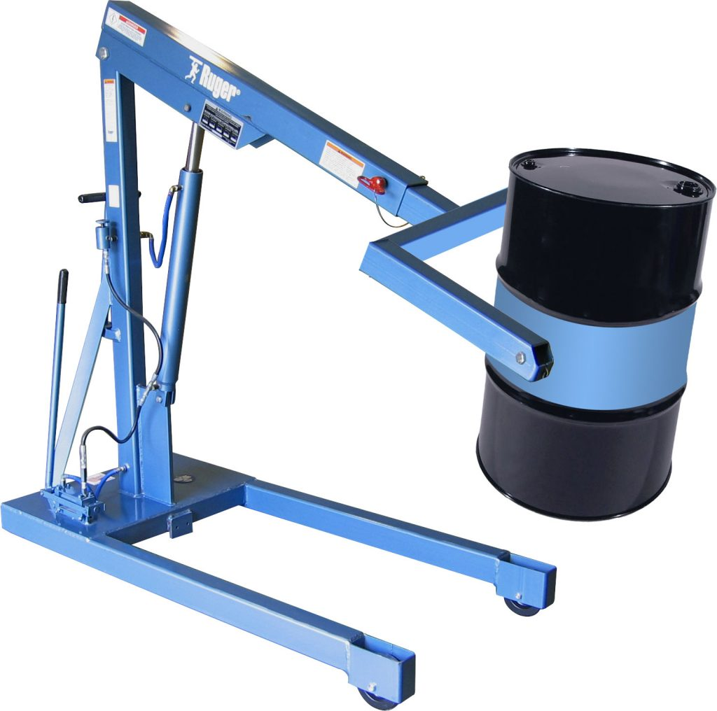 Ruger Portable Drum Handling Crane, 55 Gallon