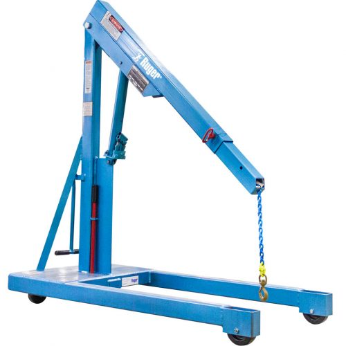 Tractor Hydraulic Boom Crane : Ruger engine hoist with built in multi position boom