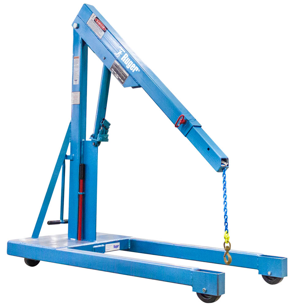 Hydraulic Floor Crane – Industrial Shop Crane
