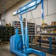 Condensed Straddle Small Footprint Floor Crane, Powered
