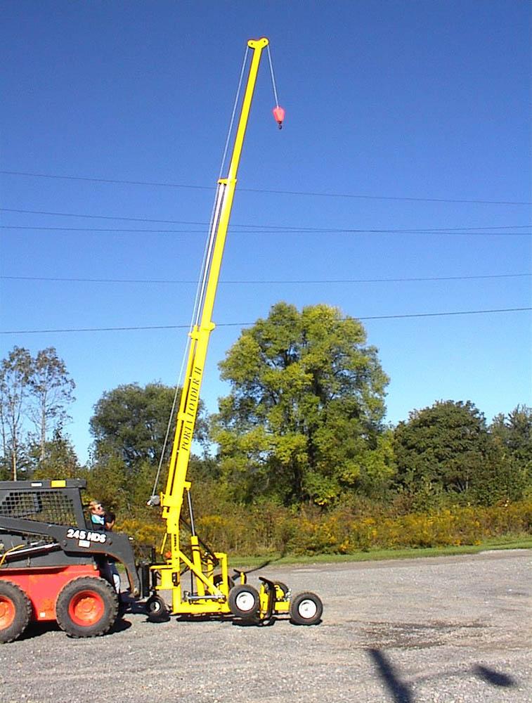 Tractor Hydraulic Boom Crane : Loader attachment hydraulic crane david round