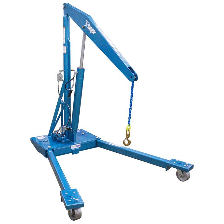 Manual Adjustable Leg Floor Crane – Hydraulic