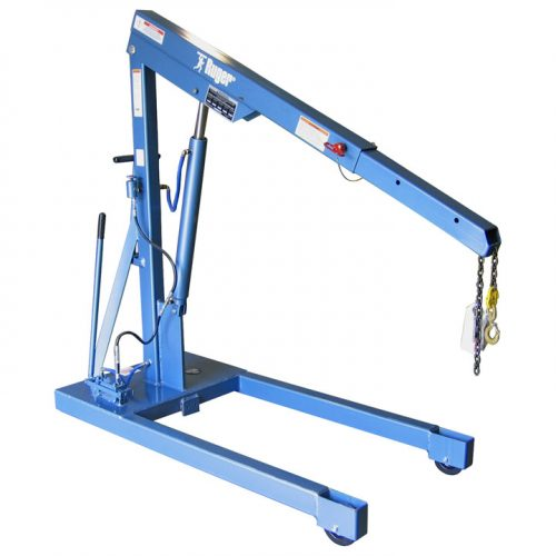 Manual Floor Crane, Built by Ruger Industries and designed for industrial shops
