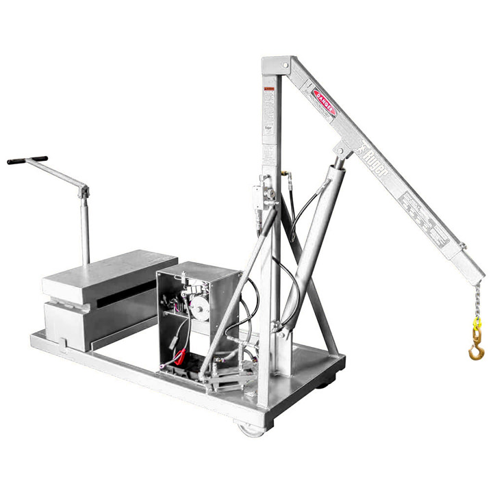 Stainless Steel Counterbalance Floor Crane – Cleanroom