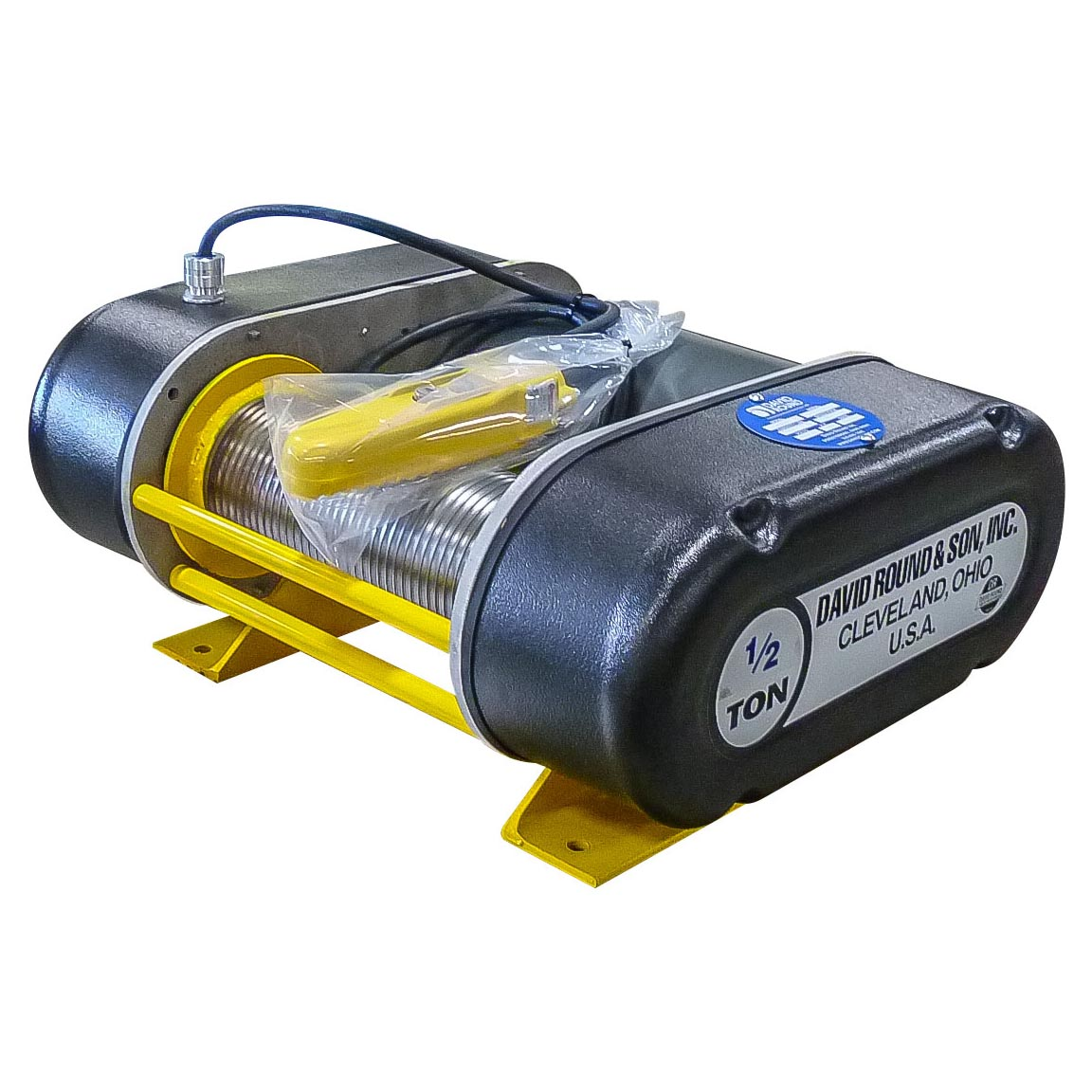 M55 Series: Grooved Drum Electric Winch (Air Powered Available)